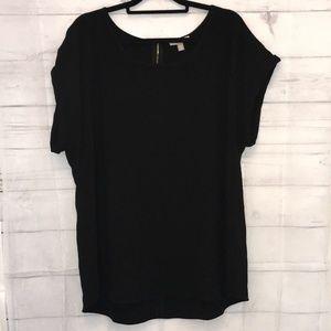 49158cd925e Roz   Ali Tops - Ladies Roz   Ali Short Sleeve Blouse Top Black 2X